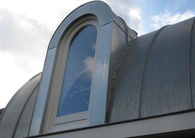 Aanbouw met zinken dak en dakkapel